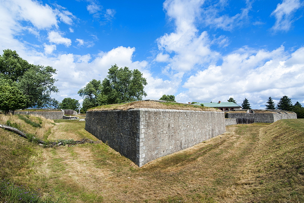The huge walls of old Fort Erie on the Niagara River, Ontario, Canada, North America