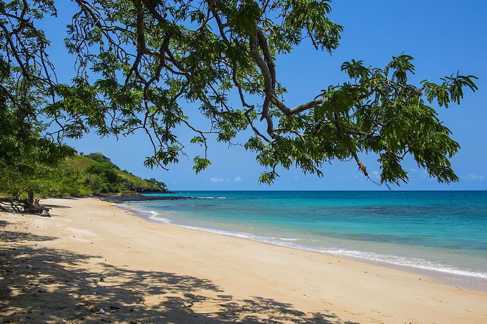 Beach Praia dos Tamarindos in northern Sao Tome, Sao Tome and Principe, Atlantic Ocean, Africa