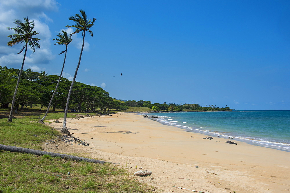 Beach of Praia dos Governadores, Sao Tome, Sao Tome and Principe, Atlantic Ocean, Africa