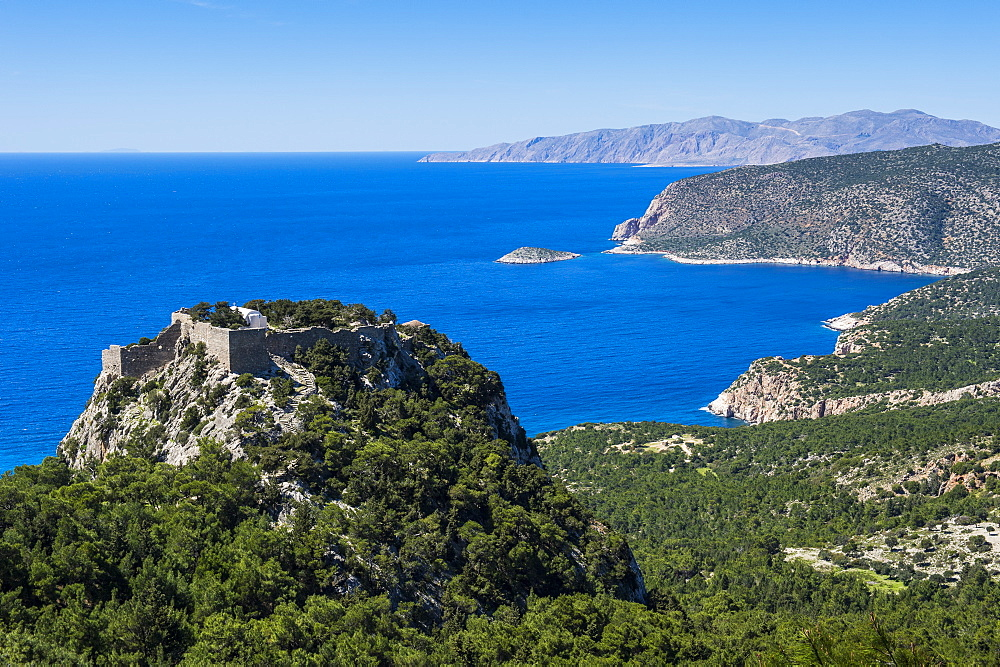 The castle of Monolithos, Rhodes, Dodecanese Islands, Greek Islands, Greece, Europe