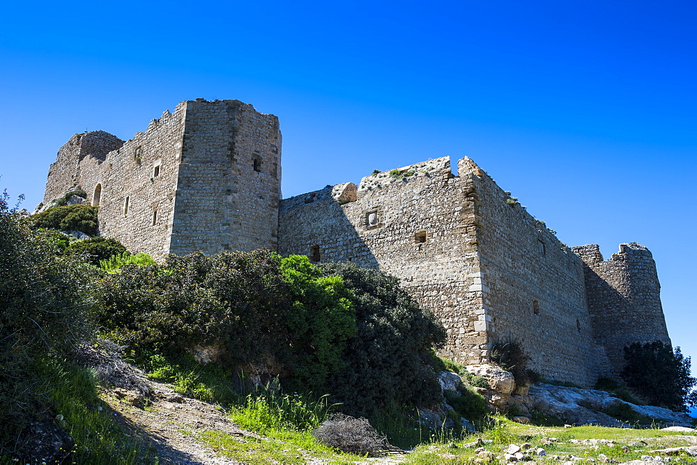 Kritinia castle, Rhodes, Dodecanese Islands, Greek Islands, Greece, Europe