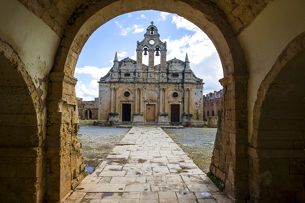 Historical Arkadi monastery, Crete, Greek Islands, Greece, Europe