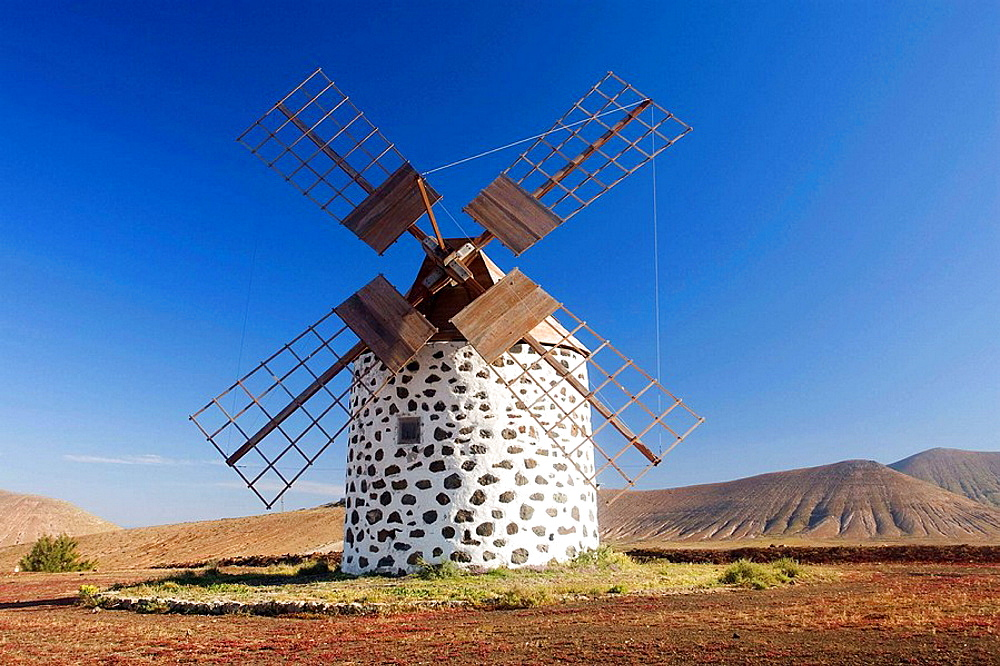 Windmills, Fuerteventura, Canary Islands, Spain - 817-101850