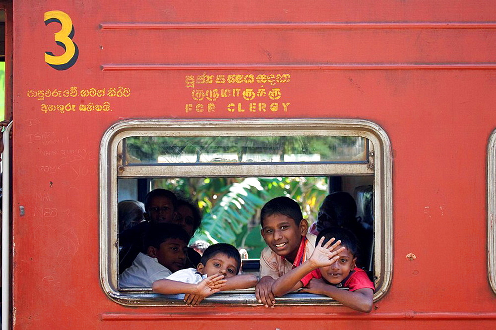 Train from Galle to Colombo, Sri Lanka