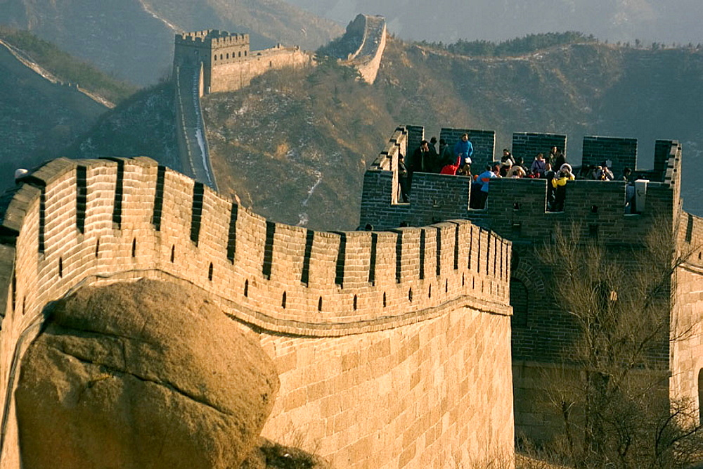 View of the Great Wall of China near Badaling, China
