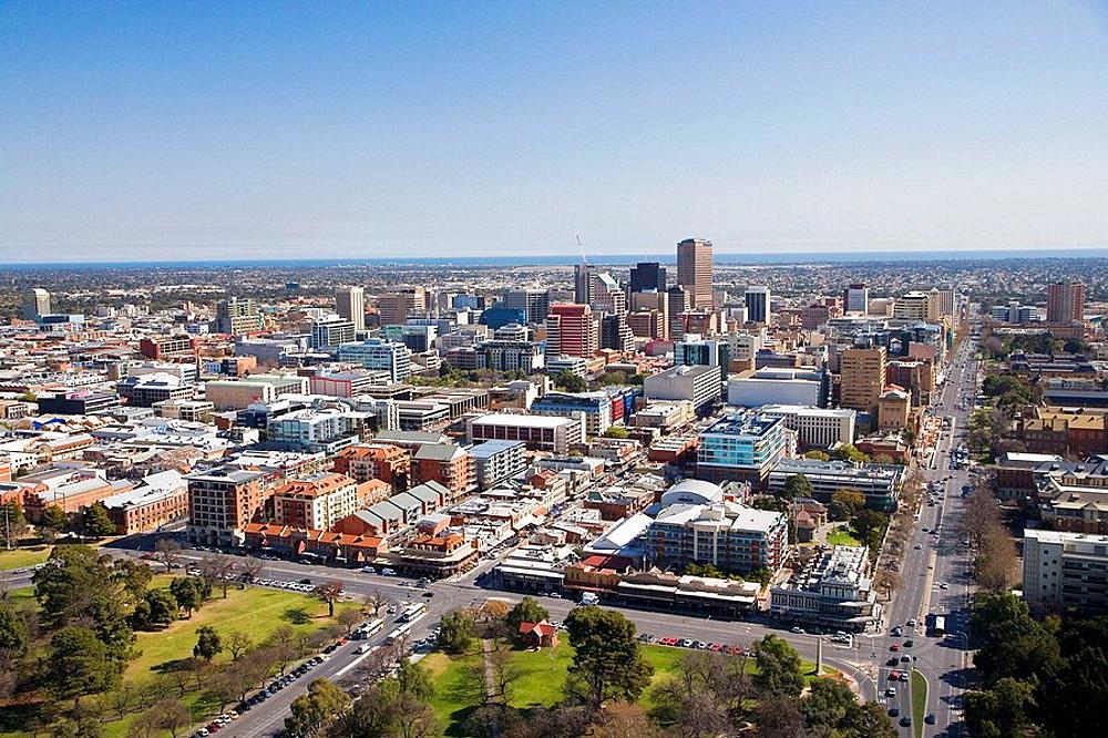 CBD, Adelaide, South Australia, Australia - aerial