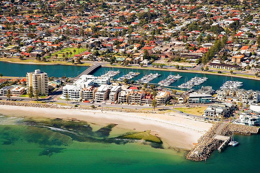 Glenelg, Adelaide, South Australia, Australia - aerial