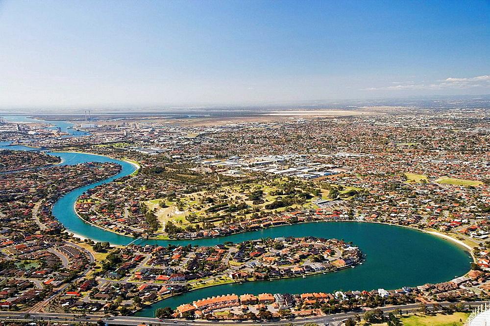 West Lakes, Adelaide, South Australia, Australia - aerial