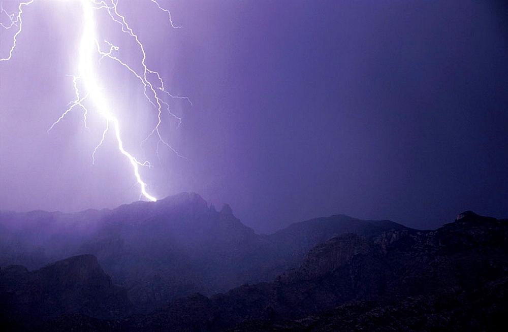 Thunderstorm, Santa Catalina Mountains, Arizona, USA