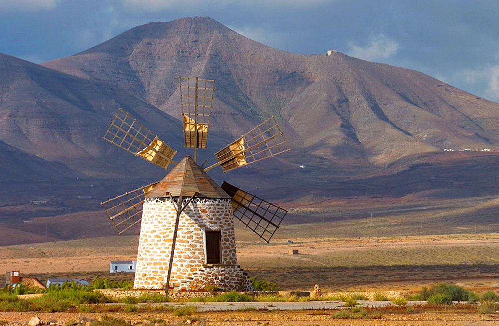 Windmill near Tefia, Fuerteventura, Canary Islands, Spain - 817-111588