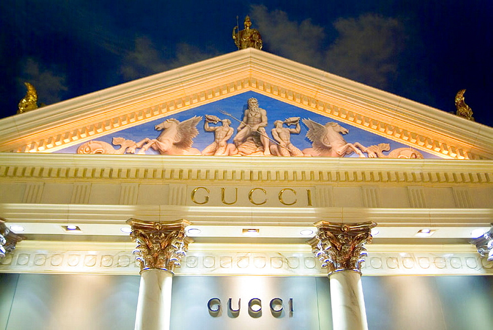 Classical architecture replica at the Forum Shop, Caesar's Palace Hotel, Las Vegas, Nevada, USA - 817-112819