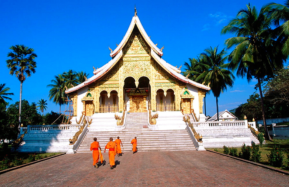 Novice monks at Wat Xieng Thong, Luang Prabang, Laos