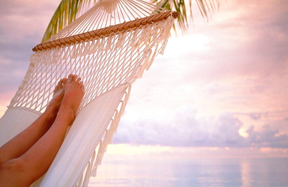 Woman resting in Ari Atoll, Maldives