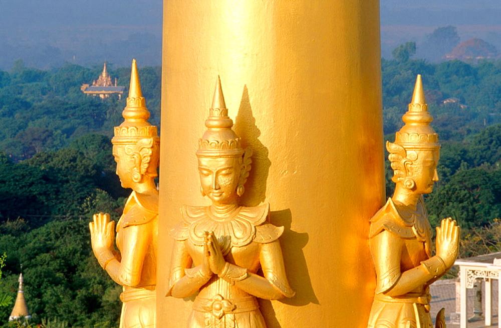 Buddhist pagoda on Sagaing Hills, Sagaing, Mandalay, Myanmar (Burma)
