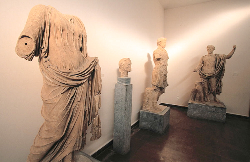 Roman marble statues, Museum of Olympia, Olympia, Greece