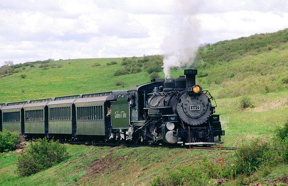 Cumbres and Toltec Scenic Railroad, steam train, New Mexico, USA
