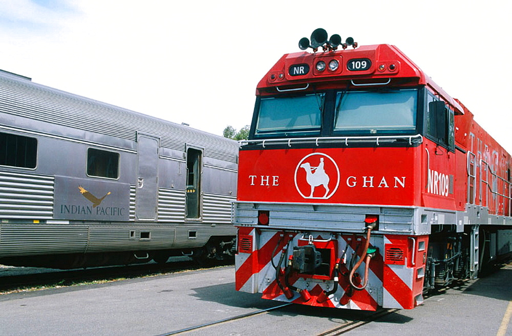 Locomotive, The Ghan train, world's newest north-south transcontinental passenger train, weekly Adelaide-Darwin 2979 KM