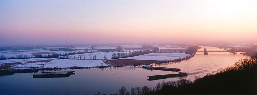 Danube, View from Walhalla, near Rabisbone, Bavaria, Germany