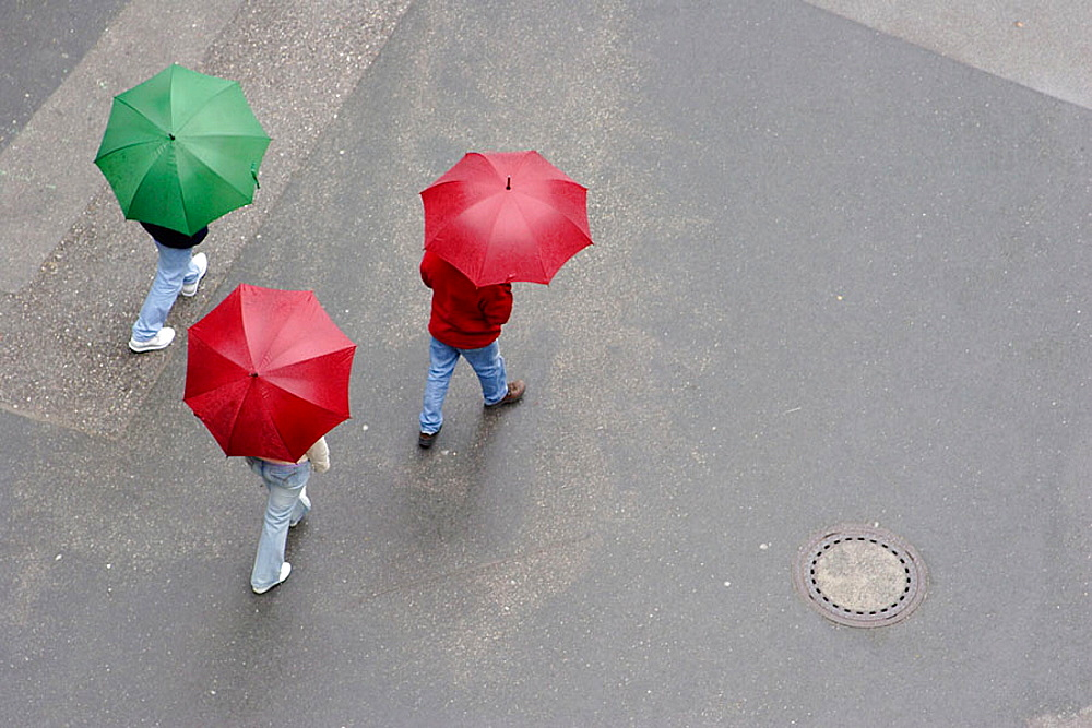 Walking in the rain, Salzburg, Austria