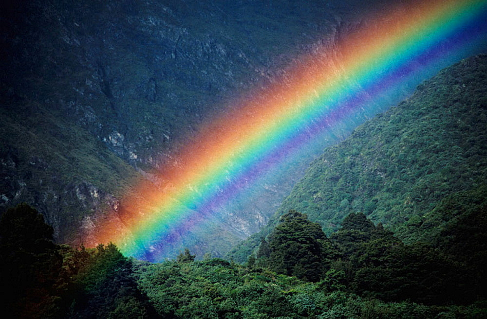Rainbow, Mount Cook National Park, New Zealand - 817-116610
