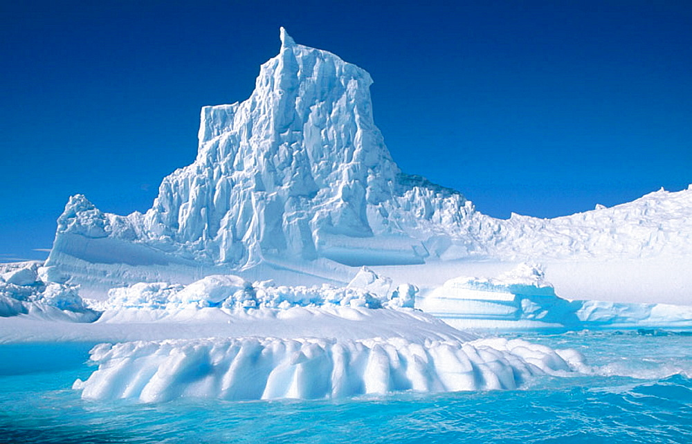 Eroded iceberg in Lemaire Channel, Antarctic Peninsula, Antarctica