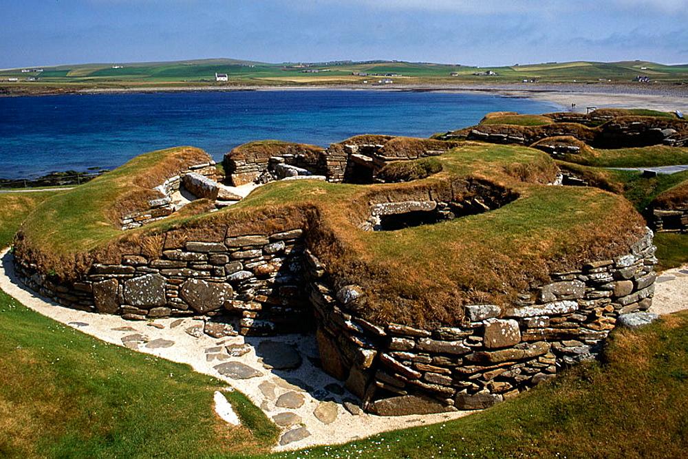 Skara Brae, 5000 year old village near Stromness, Main Island, Orkney Islands, Scotland