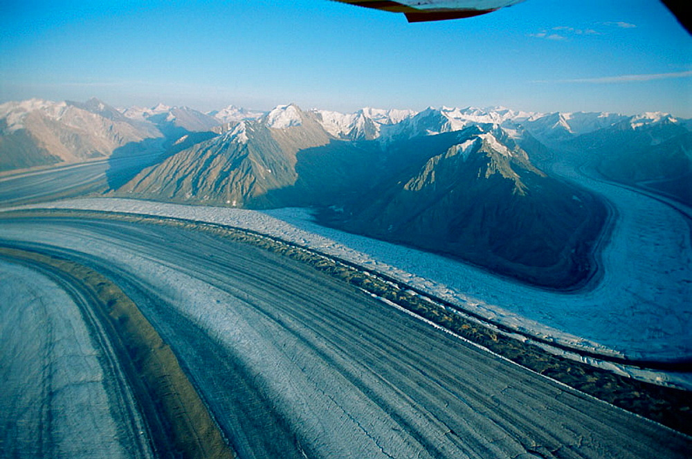 Glaciers, St, Elias Mountains, Kluane National Park, Yukon, Canada