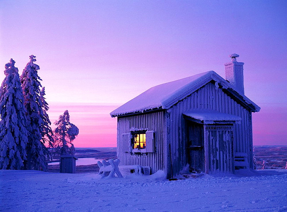 House and snow, Vasterbotten, Sweden