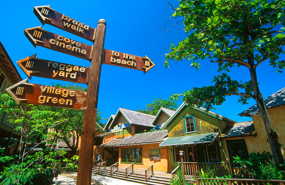 Island Village, the most recent shopping area in Ocho Rios, Jamaica
