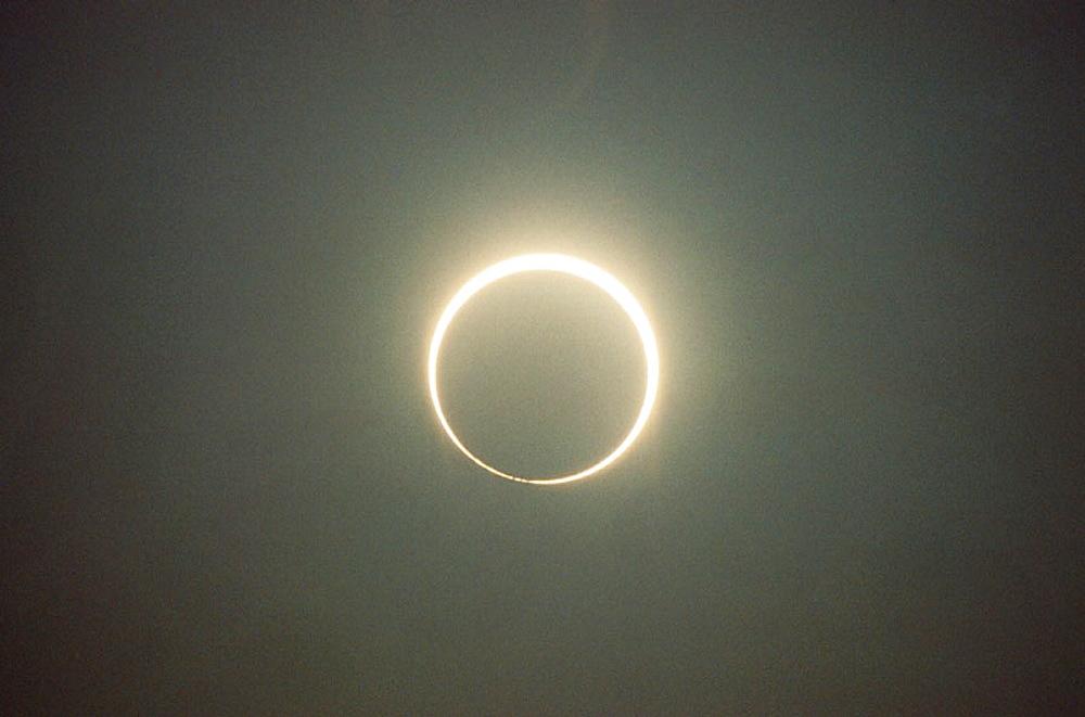 Solar eclipse, Michigan, USA