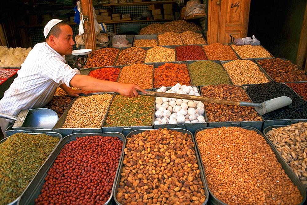 Kashgar (Kashi) bazaar, Uighur Autonomous Region of Sinkiang (Xinjiang), China