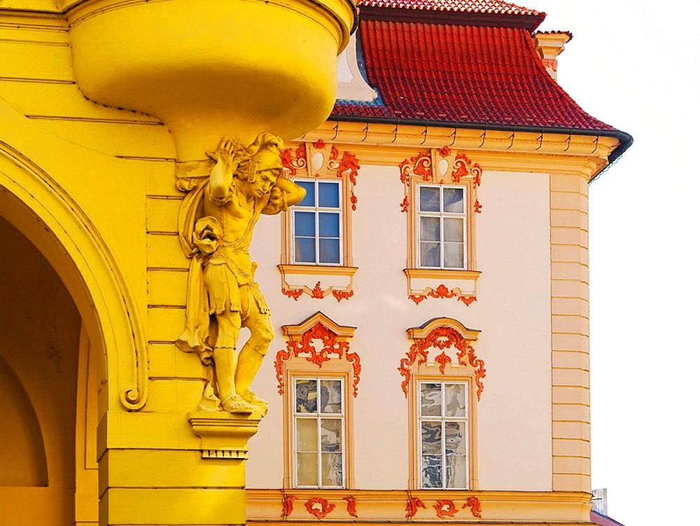 Decoration detail, Stare Mesto buildings, Prague, Czech Republic