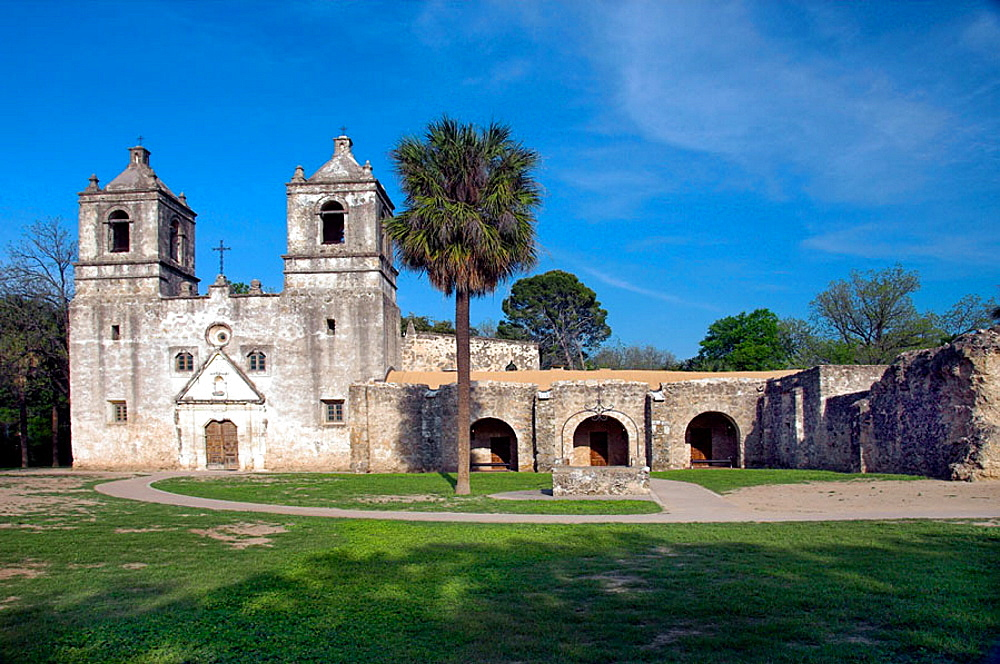 The historic Spanish Mission Nuestra Senora de la Purisma Concepcion in San Antonio, Texas, USA