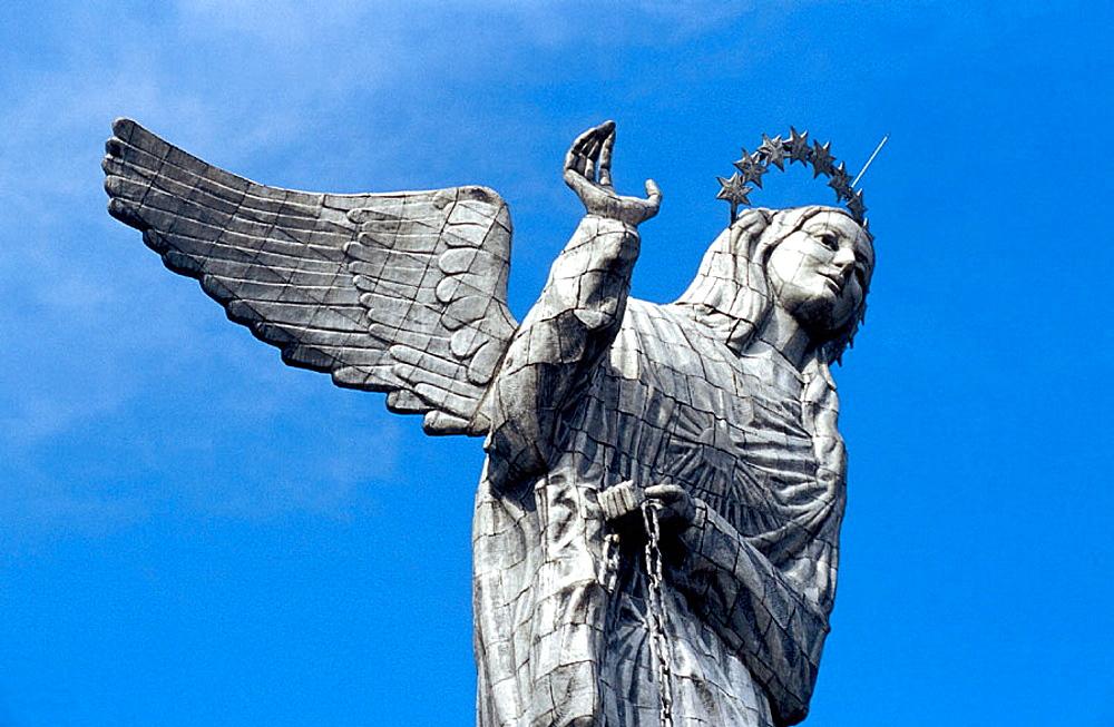 Virgen de Quito statue (Virgin of Quito) at Cerro Panecillo, Quito, Ecuador