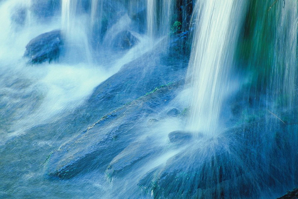 Detail of the Rissloch Falls, Bodenmais, Bavarian Forest, Germany