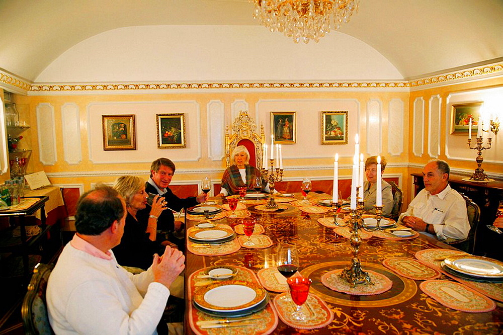 People sitting at the Russian Empire considered as the most exquisite restaurant in Russia, St Petersburg, Russia