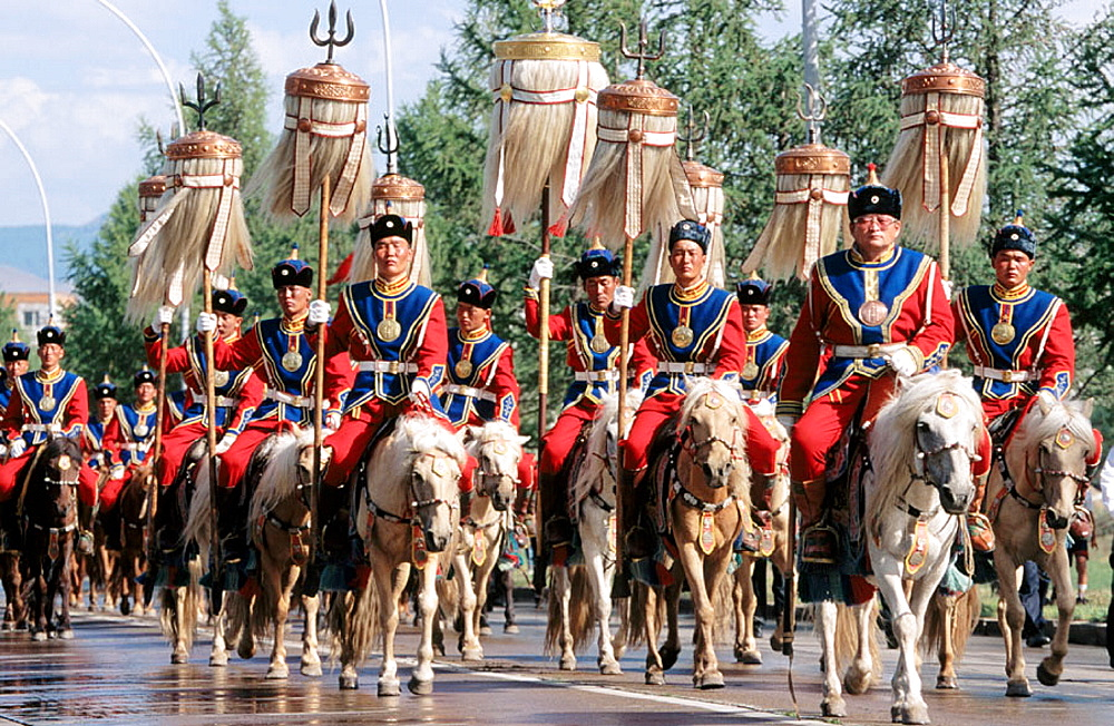 Guard of Honor, Naadam Festival, Ulan Bator, Mongolia