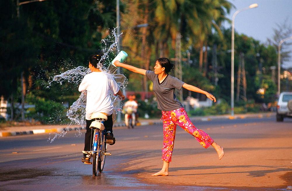 Pii Mai (Water Festival), Vientiane, Central Laos