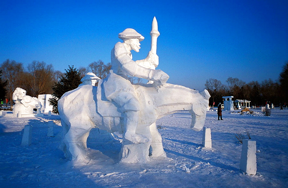 Don Quijote ice sculpture, Harbin, China