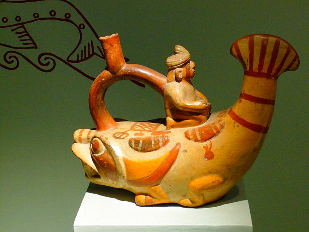 Moche bottle 'The Fish', Peru