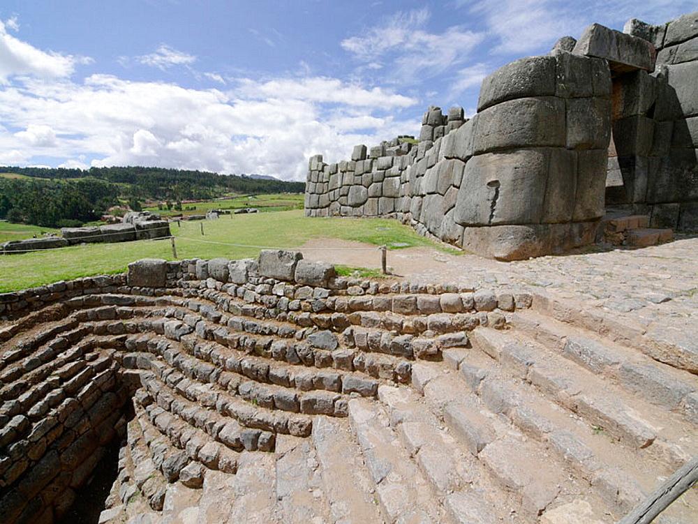 Sacsayhuaman archaeological site near Cusco, Peru