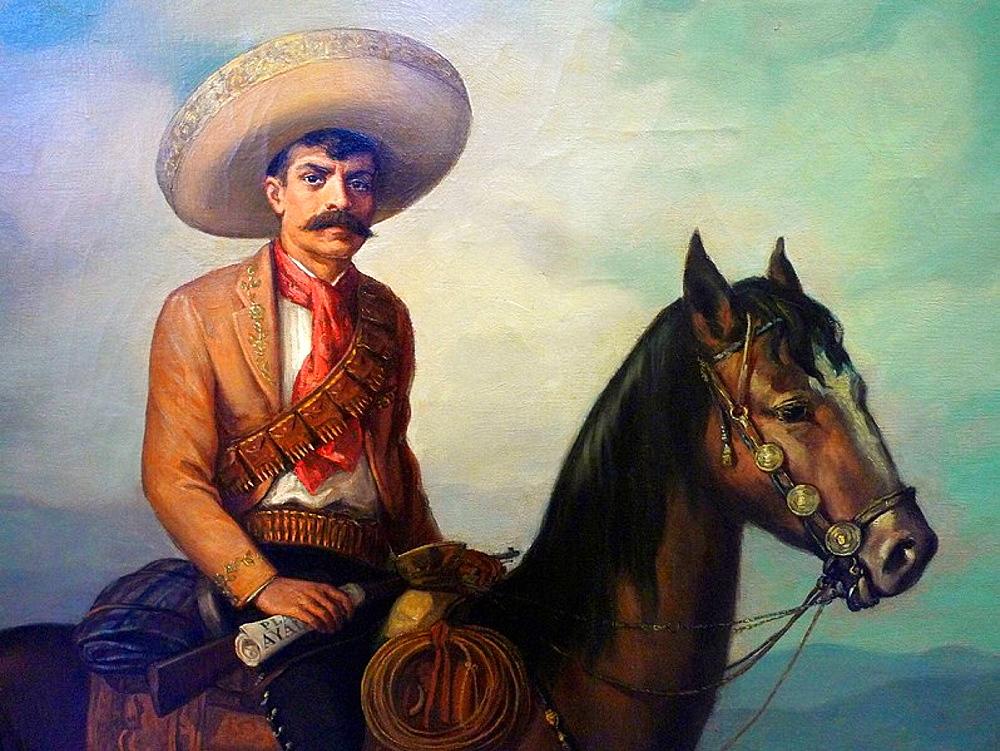 Emiliano Zapata oil painting, Castillo de Chapultepec, Ciudad de Mexico