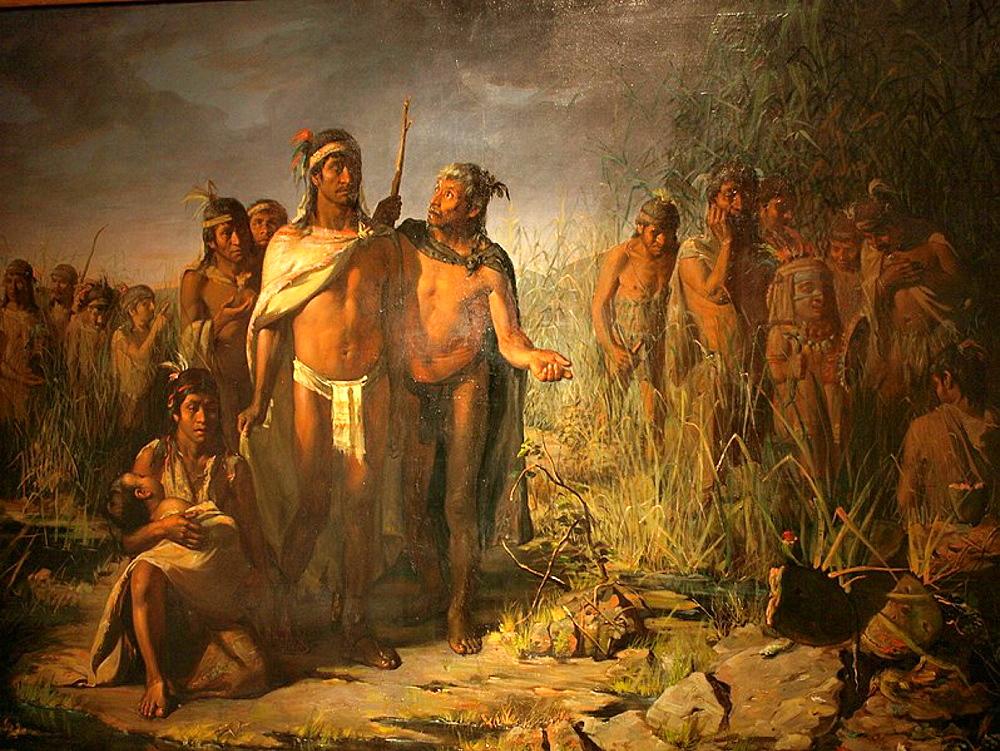 Peregrinacion Azteca, Museo Nacional de Arte (munal), Ciudad de Mexico