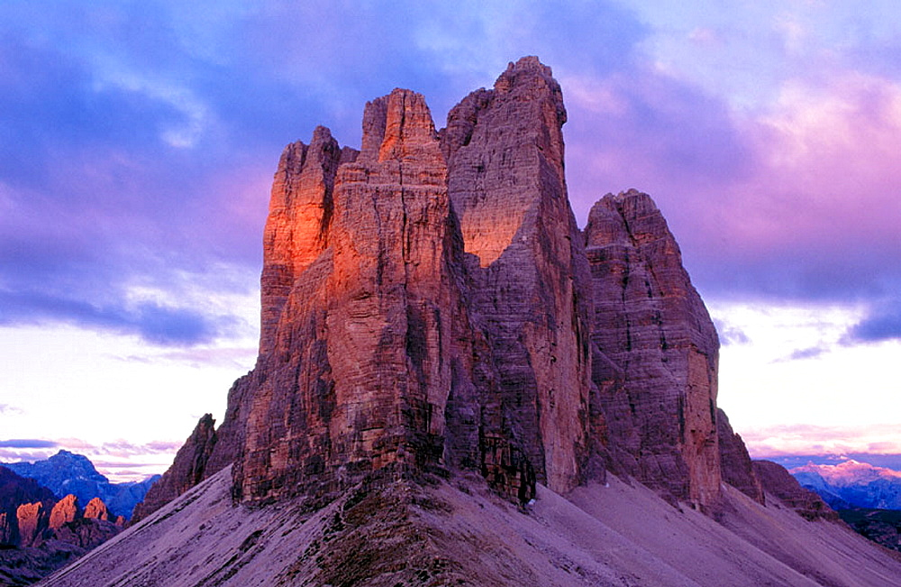 Drei Zinnen (The Tree Chimneys), Dolomites, South Tyrol, Italyy
