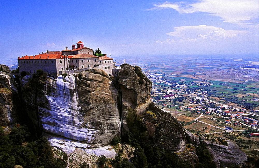 Greek Orthodox Holy Monastery of St, Stephen, Meteora, Thessaly, Greece