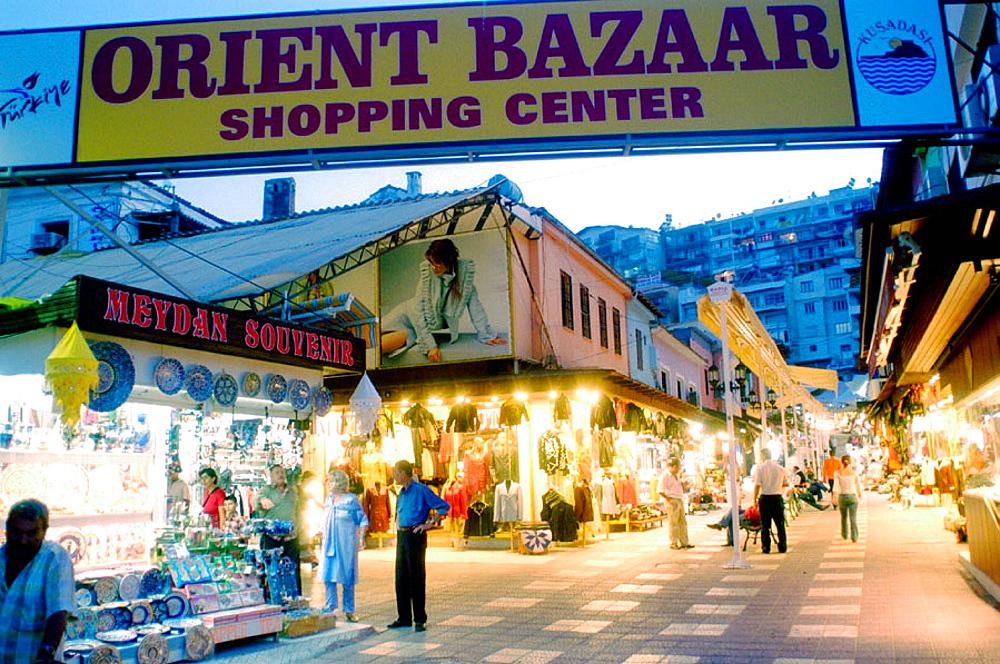 Entrance to Orient Bazaar shopping center, Kusadasi, Turkey