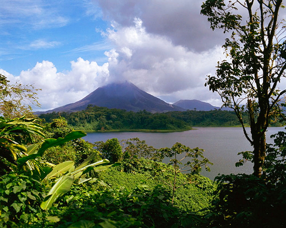 Arenal Volcano and Lake Arenal, Arenal National Park, Costa Rica