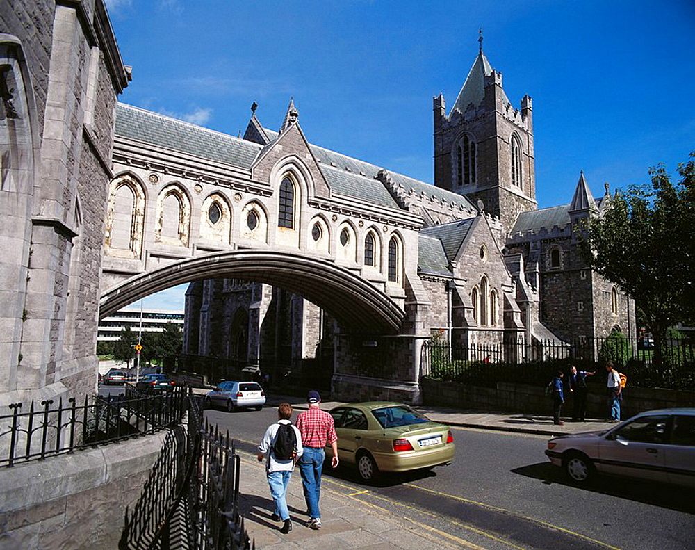 Bridge linking Synod Hall (left) and Christ Church Cathedral (right), Dublin, Ireland