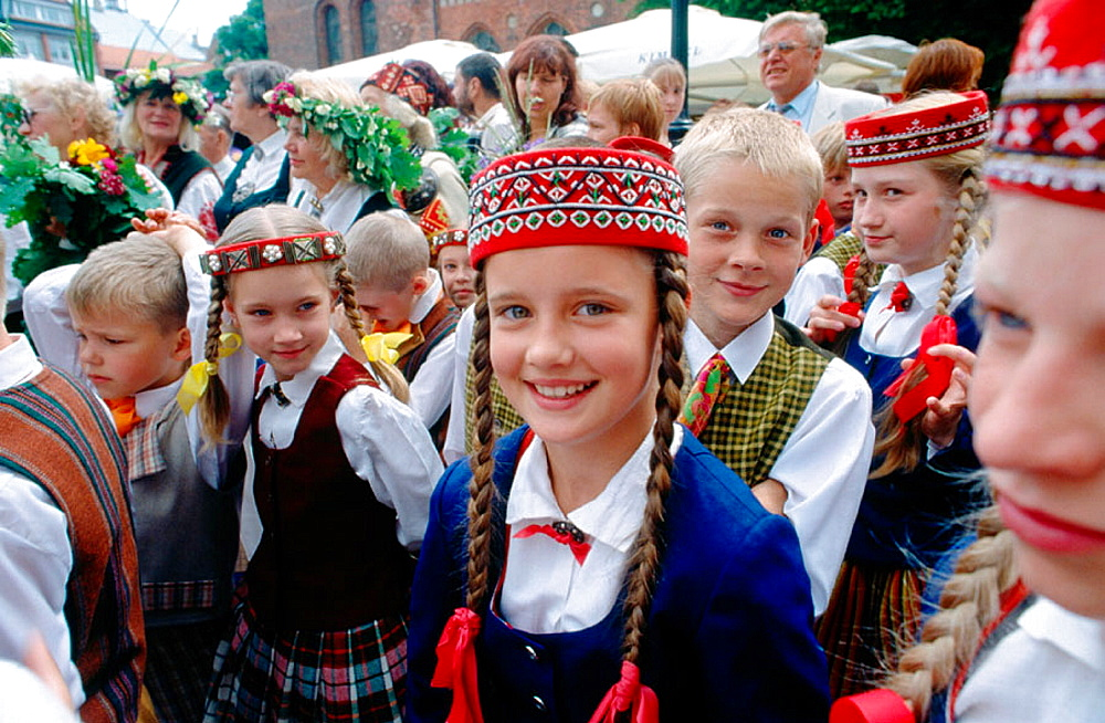 Latvian folklore: the Ligo Diena (Grass day) festival (June 23rd), Riga