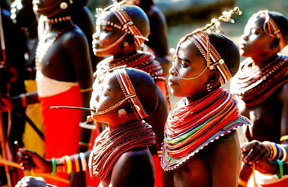 Ethnic group of Maasai, Mara National Park, Kenya - 817-141486